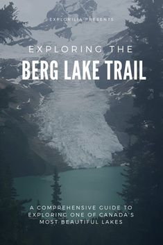One of Canada's most beautiful lakes lies hidden in the Rocky Mountains. Hike the Berg Lake trail and spend a couple days camping and exploring the area. Canada Destinations, Affordable Vacations, Clear Lake, Beautiful Waterfalls, Camping Activities, Canada Travel, Go Camping, Hiking Trails, Rocky Mountains