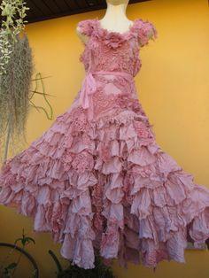 vintage inspired shabby bohemian gypsy dress