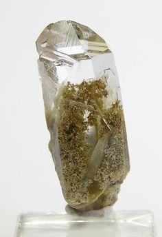 Green Chlorite Inclusion in Quartz Crystal  from undisclosed location in western Arkansas