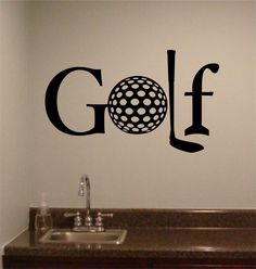 Golf Theme Quote, Golf Word, Vinyl Wall Lettering, Sports Decal, Golf Ball #AwesomeGolfTips