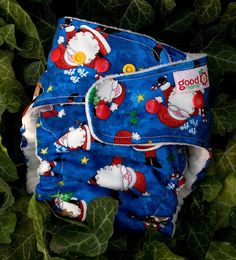 Kris Kringle Jingle One-Size Fitted Diaper by thegoodmama.com, via Flickr