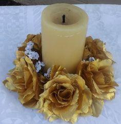Mira este artículo en mi tienda de Etsy: https://www.etsy.com/listing/236416104/candle-ring-6-with-roses-for-wedding