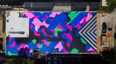 Reko Rennie's colossal artwork for Lyon Housemuseum - Art Almanac Dulux Weathershield, Pocket Park, Making Space, Street Graffiti, New Museum, Stencil Art, Public Art, Lyon, Contemporary Artists