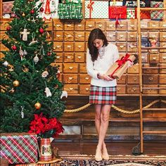 J Crew Plaid Paper Bag Skirt Seen on many bloggers! :) worn once for a Christmas card photo. I usually wore a 2/4 and it fits without being loose. Will probably also fit a 6/8 comfortably. J. Crew Skirts