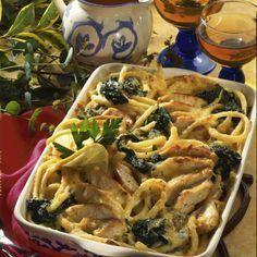 Makkaroni-Spinat-Auflauf Rezept | LECKER