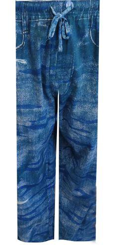 WebUndies.com Your Old Worn Out Favorite Blue Denim Camo Lounge Pants