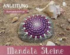 Mandala Steine bemalen | Buntwerkstatt.at