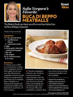 Buca di Beppo meatballs (make smaller meatballs) Copycat Recipes, Meat Recipes, Cooking Recipes, Recipies, Meatball Recipes, Dinner Dishes, Food Dishes, Main Dishes, Buca Di Beppo Recipe