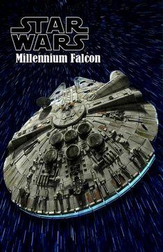 Millennium Falcon Model, Saga, Nave Star Wars, Han Solo And Chewbacca, Star Wars Spaceships, Star Wars Vehicles, Star Wars Wallpaper, Star Wars Ships, Star Wars Fan Art