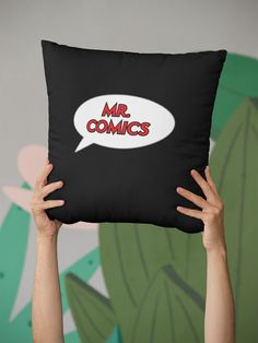 Throw Pillows, Comics, Shopping, Toss Pillows, Decorative Pillows, Comic Book, Decor Pillows, Cartoons, Comic Books
