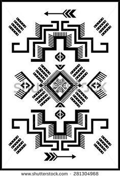 Navajo Aztec big pattern vector illustration board
