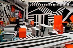 Op Art interior.