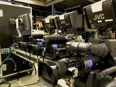 JVC Cameras being prepped for the weekend