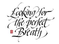 Looking for the perfect breath - Lettering commission. | da Luca Barcellona - Calligraphy & Lettering Arts