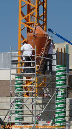 """Nieuwbouw """"Zoetelief"""" Den Helder!  Beton storten kartonnen kolombekisting (monotube)"""