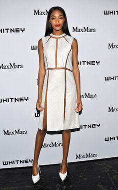 The 50 Best Little White Dresses: Jourdann Dunn in Alexander Wang