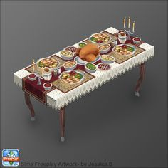 Sims Freeplay - Thanksgiving table by =Nef-JessB on deviantART