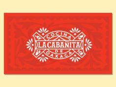 La Cabañita Logo by Abraham Lule - Dribbble Logo Restaurant, Resturant Logo, Mexican Restaurant Design, Typography Logo, Logo Branding, Branding Design, Fashion Typography, 3d Logo, Corporate Branding