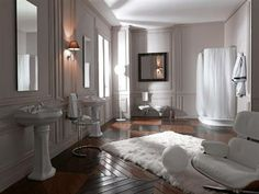 For the ultimate traditional bathroom; Retro Bathrooms, Complete Bathrooms, Italian Bathroom, Toilet Sink, Estilo Retro, Traditional Bathroom, Bath Accessories, Basin, Oversized Mirror