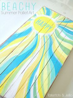 Pallet Art | ... project I made with it last week — Easy DIY Summer Pallet Art