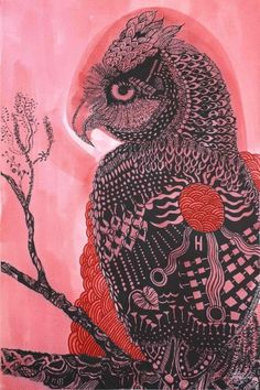 Joshua Yeldham, Owl of Protection – Hawkesbury River.153 x 101 cm, Carved paper with pigment and shellac, AVAILABLE