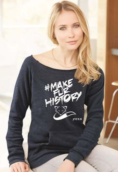FTLA Apparel Eco Navy Eco Fleece Off the Shoulder Sweatshirt #MakeFurHistory