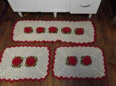 jogo de cozinha croche - Pesquisa Google