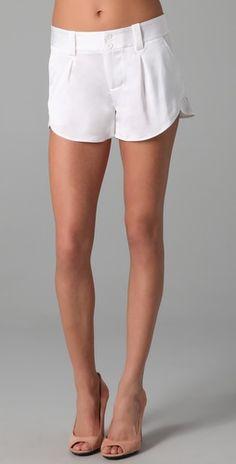 Alice + Olivia white shorts