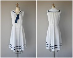 1950s Dress  1950s Day Dress  50s Dress  1950s Sailor