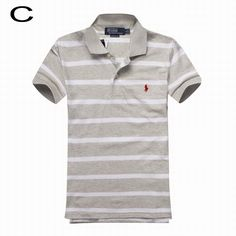 Polo Ralph Lauren\u0026#39;s Striped Cotton Mesh Short Sleeve Shirts Gray White