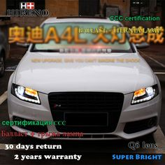 829.00$  Buy here - http://alis24.shopchina.info/1/go.php?t=32808827915 - Hireno Car styling Head lamp for 2009-12 Audi A4 B8 Headlights LED Headlight Assembly DRL Angel Lens Double Beam HID Xenon 2pcs  #bestbuy