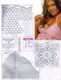 Универсальная схема вязания купальника!- вязание крючком, вязание спицами