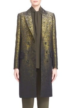 Max Mara Max Mara 'Veleno' Double Breasted Jacquard Coat available at #Nordstrom