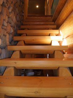 Custom built Log Home Stairs | Artisan Log Homes