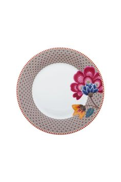 Pip Studio - Floral Fantasy breakfast plate khaki
