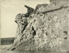 Closeup of damage inflicted on Fort Pulaski by Union artillery on Big Tybee Island April 1214 1862.