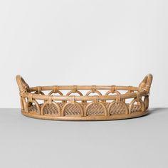 Rattan Tray - Natural - Opalhouse™ - image 2 of 8 Wicker Tray, Rattan Basket, Basket Bag, Home Decor Baskets, Tray Decor, Bohemian Kitchen, Affordable Home Decor, Home Decor Trends, Decor Ideas