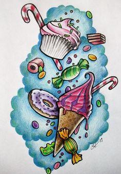 Sweets tattoo flash art