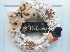 Christmas burlap wreath Country Christmas by ChloesCraftCloset