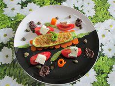 Zucchina  al  Gorgonzola   verdure  miste  salsa  di olive nere  Gino D'Aquino  %&/()(/&%  >-<  <^>  < ^ >