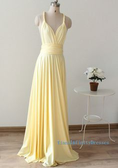 c18fe3db4ee8 pale yellow long flowy dresses - Google Search Pale Yellow Bridesmaid  Dresses