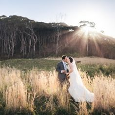 This wedding has it all: outdoor church in a forest, dreamy hillsides, pristine beaches, sunsets, DIY reception with handmade details SWOON!