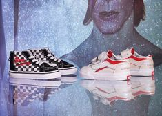 Vans Honors David Bowie With A Capsule of Graphic Old Skools and His - mini:licious by wendy lam Owl Logo, Sk8 Hi, Old Skool, David Bowie, Supermodels, Roman, Baby Kids, Kids Fashion, Infant