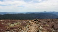 Vue sommet, mont Eisenhower, New Hampshire, mai 2016