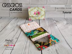 Crisscross Cards Tutorial free pattern PDF download from Craftsy!