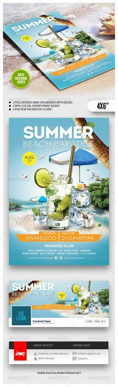 Summer Beach Paradise Flyer Template Download PSD : http://graphicriver.net/item/summer-beach-paradise-flyer-template/4827004?ref=kwangsoo