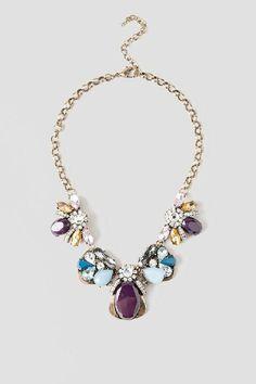 Magnolia Jeweled Statement Necklace | francesca's