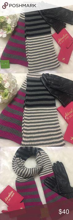 Vera Bradley striped scarf! NWT Vera Bradley striped knit scarf; Canterbury magenta; NWT Accessories Scarves & Wraps