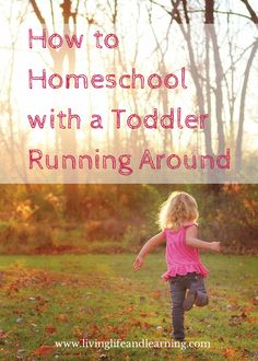 How to Homeschool with a Toddler Running Around - http://www.livinglifeandlearning.com/homeschool-toddler-running-around.html #homeschool #homeschooling