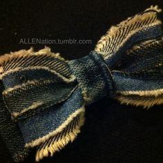 My DIY denim bow tie.